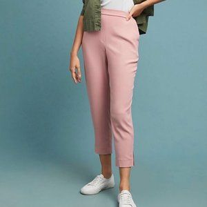 ANTHRO Elastic Waistband Cropped Pull-on Trouser